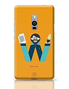 PosterGuy OnePlus Two Case Cover - Alphabet People - Writer | Designed by: The Design Caravan