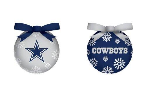 Dallas Cowboys Boxed Led Ornament Set