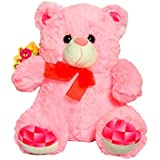 Sunshine Big Bow Bear Soft Toy Teddy Bear - 18 Inches - Pink