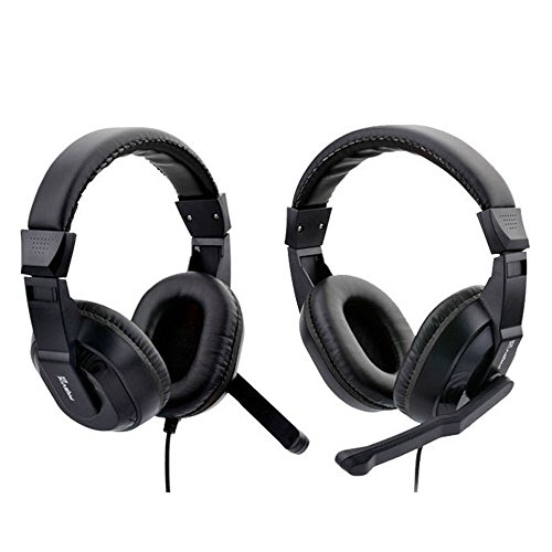 Zps (Tm) Computer Gaming Headset With Microphone Stereo Headset Black
