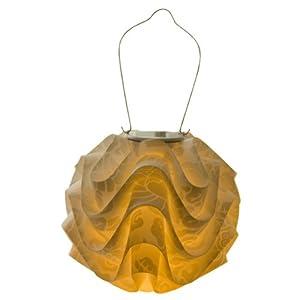 Soji Modern Solar Lantern Mineral Motif