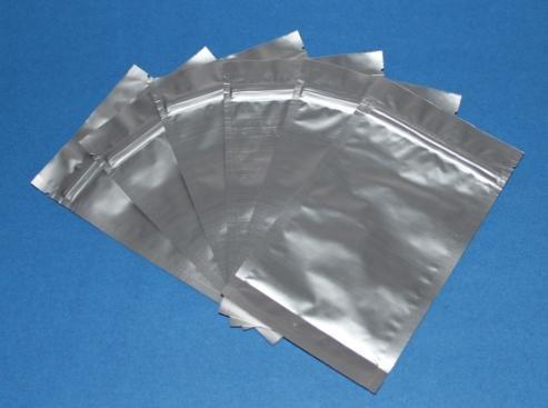 4 X 7 Inch 100pcs Silver Zip Lock Foil Bag Pouches