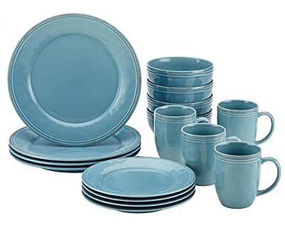 Rachael Ray Cucina 16-Piece Stoneware Dinnerware Set