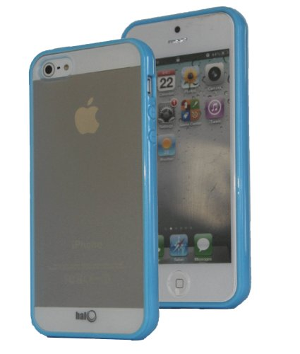 Halo Premium Tpu Anti-Scratch Hybrid Bumper With Hardshell Backing Case For New Apple Iphone 5 (Blue)