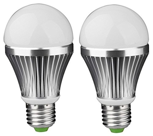 5W E27 LED Bulb (White, Set of 2)