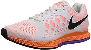 NIKE Air Pegasus 31 Ladies Running Shoe, White/Orange, UK8