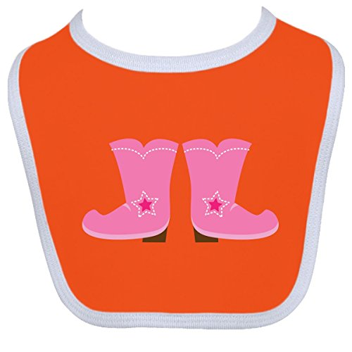 Inktastic Baby Boys' Cowgirl Pink Boots Baby Bib