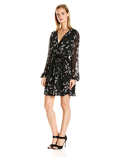Just-Cavalli-Womens-Combat-Eagles-Print-Cross-Over-Dress