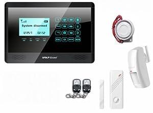 Antifurto Sistema di Allarme senza fili combinatore GSM, touch screen, chiamata invio sms, fai ...