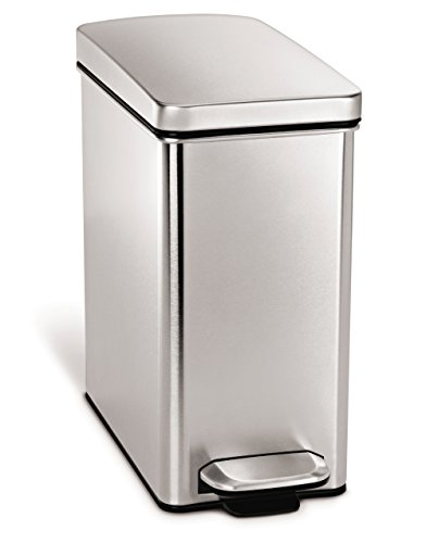 Step Trash Can Stainless Steel Garbage Bin Kitchen Waste Lid Pedal Household