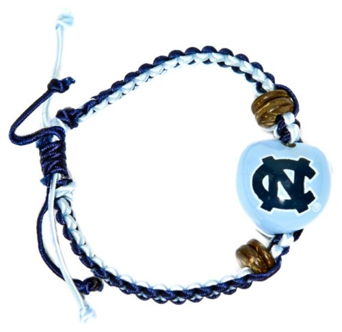 NCAA North Carolina Tar Heels Go Nuts Kukui Nut Macrame Bracelet at Amazon.com