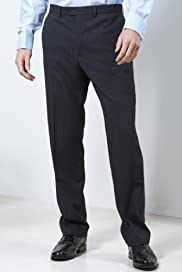 Performance Stormwear Pure Wool Flat Front Stripe Trousers [T15-2316-S]