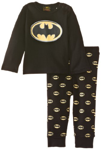 Batman - Pigiama, Bimbi, nero (Black), 18 mesi