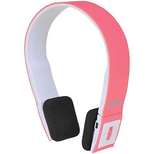 Sylvania Sbt214-Pink Bluetooth Stereo Headphones