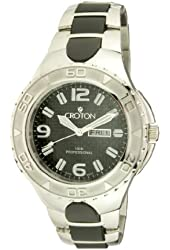 Croton Steel and Rubber Mens Watch CA301197SSBK