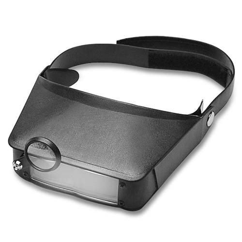 Easy Eyes Head Magnifier For Jewelers Adjustable Velcro Strap 1.8X TO 4.8X Magnification