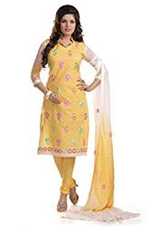 Dress Material by Sarees Fashion presents Women's Cotton Unstitched Dress Material_SRFZB5853_Yellow_white_Freesize
