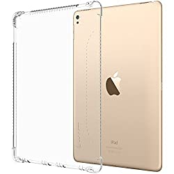 iPad Pro 9.7 Case, LUVVITT CLEAR GRIP Flexible Soft Transparent TPU Shockproof Rubber Back Cover for iPad Air 3 / iPad Pro 9.7 inch - Clear
