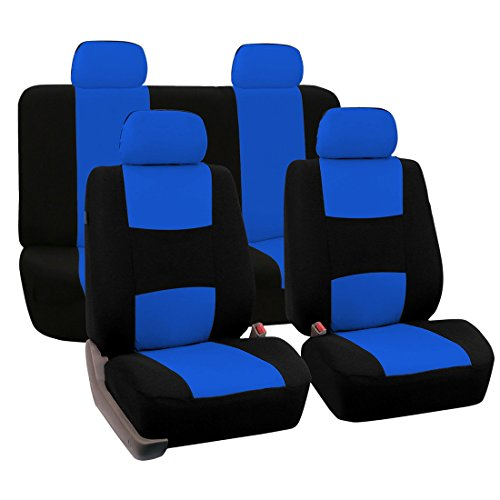 uxcell Car Seat Covers Blue Black Full Set for Auto w/ 4 Head Rests (Blue Car Seat Covers For A Sedan compare prices)