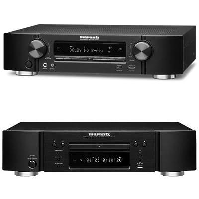 Marantz NR-1504 Slim Line 5.1-Channel Home Theater Receiver & UD-5007 Universal Disc Player Bundle