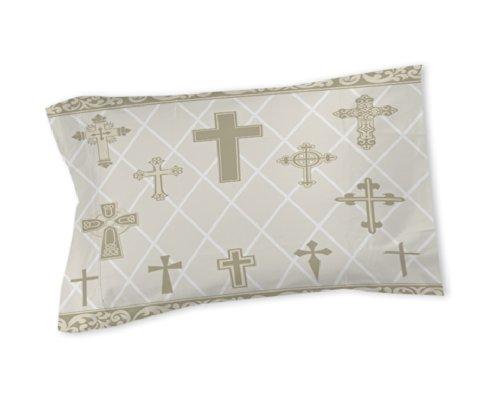 Thumbprintz Pillow Sham, Standard, Argyle Crosses-Natural front-472136