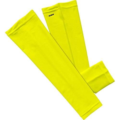 Yellow Arm Sleeves tattoo arm leg sleeves sun protection cycling halloween party