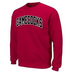South Carolina Gamecocks Tek Patch Long Sleeve Fleece Pullover by Section 101 by Majestic