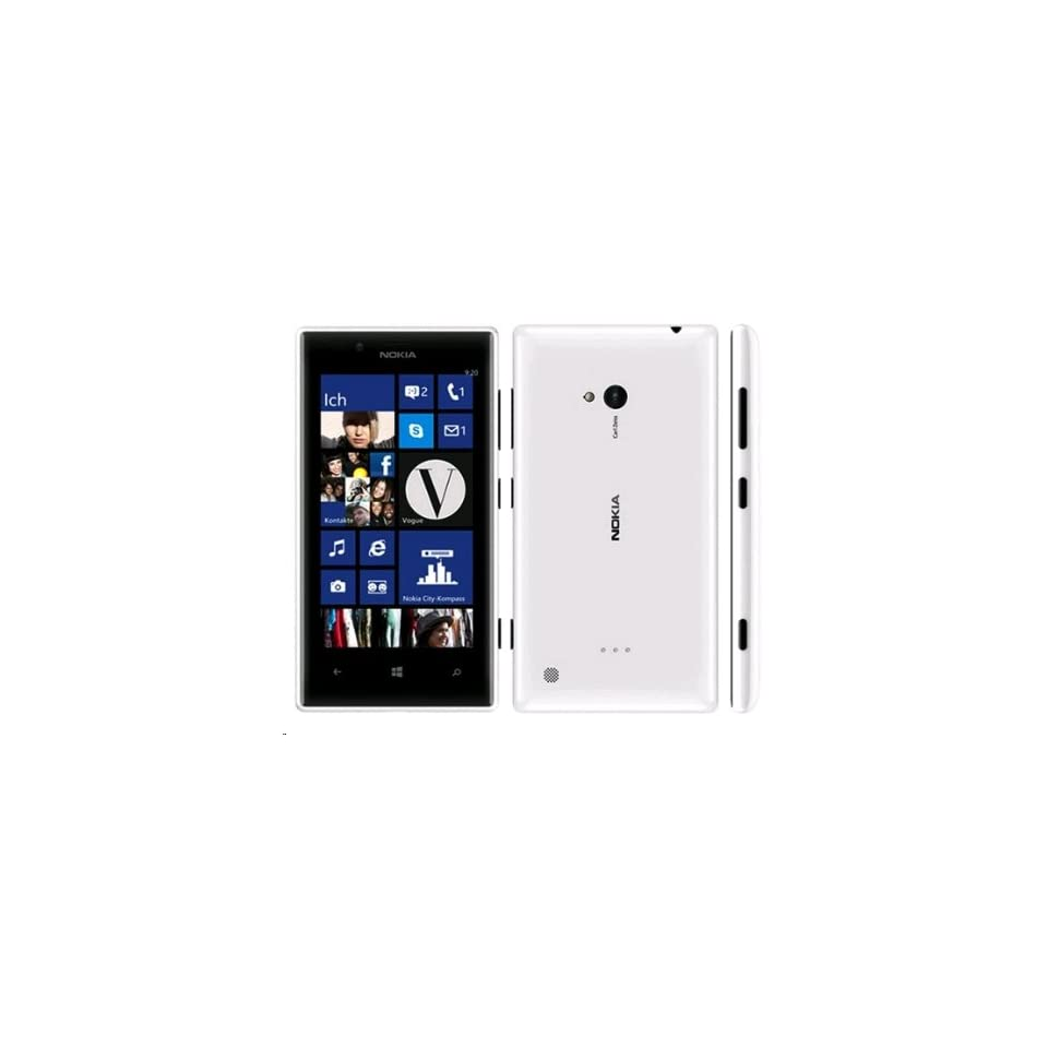 Nokia Lumia 720 White Unlocked Quad Band GSM Smartphone   WCDMA 850/900/1900/2100