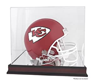 Kansas City Chiefs Mahogany Helmet Logo Display Case with Mirror Back