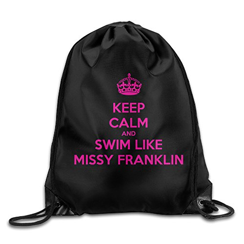 YYHU Keep Calm And Swim Like Missy Franklin Training Gymsack - Great For Travel And Everyday Life (Missy Franklin Swim Cap compare prices)