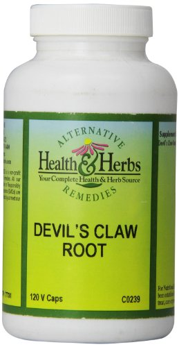 Alternative Health & Herbs Remedies Devil'S Claw Root Capsules, 120-Count Bottle
