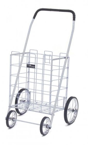 White Folding Grocery & Laundry Cart