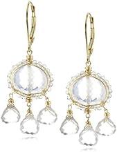 Dana Kellin Multi-Drops with Perfect Everyday Ice Quartz Crystal Edged Earrings