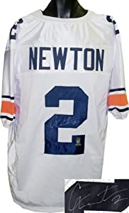 Cam Newton Autographed Hand Signed Auburn Tigers White Custom Jersey- Tri-Star...
