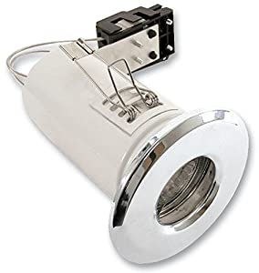 IP65 GU10 FIRE RATED SHOWER LIGHT SFRGUCR By ETERNA & Best Price Square