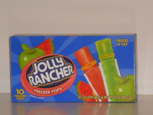 Jolly Rancher Freezer Pops 10 Ct (Pack Of 6)