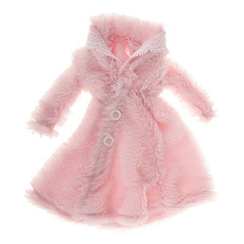 Abiti Cappotto Di Pelliccia Per Bambole Abbigliamento Vestiti Accessori Decorazione - rosa