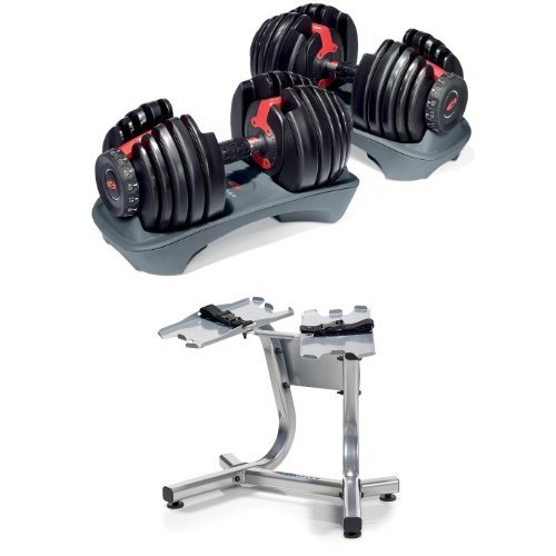 Bowflex SelectTech 552 Adjustable Dumbbells (Pair) and Stand