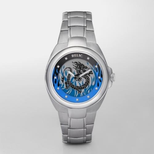 RELIC Stainless Steel Dragon Animation Watch