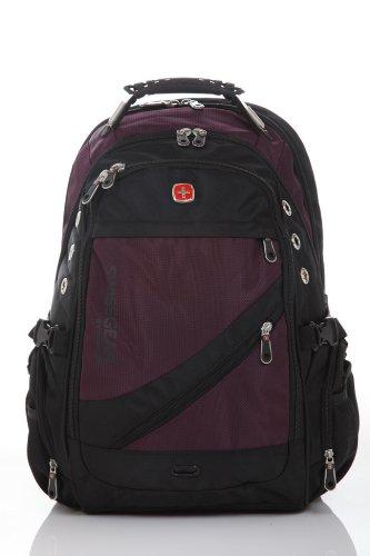 Swiss Travel Gear Laptop macbook backpack with Audio Interface. notebook tablet computer,knapsack,rucksack bag Comfortable back Ergonomic shoulder straps for man