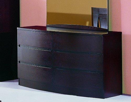 Bh Design 6-Drawer Dresser, Maya Espresso front-446102