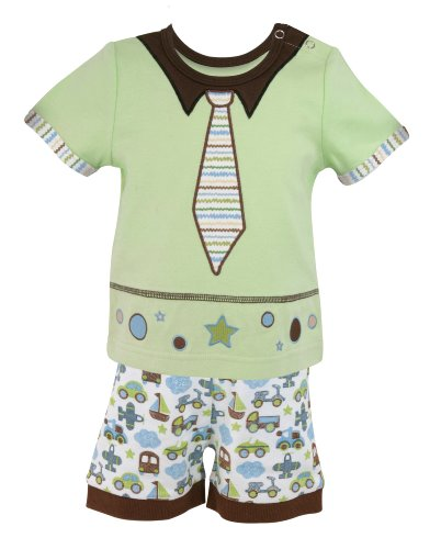 Stephan Baby Going Places Infant Boy Top and Diaper Cover, 12 Months