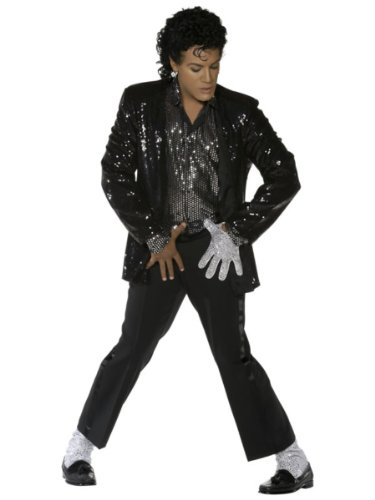 1980s Michael Jackson Billie Jean Fancy Dress Costume