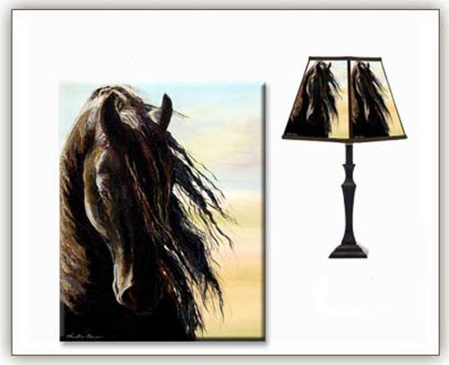 Clearance Floor Lamps Friesian Horse Lampshade