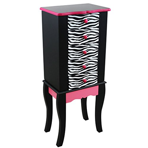 [Teamson Kids Dollhouse Furniture Zebra Jewelry Chest Armoire] (Vintage Blow Up Halloween Costumes)
