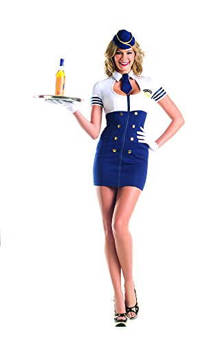 Mile High Service Sexy Flight Attendant Costume - SMALL/MEDIUM