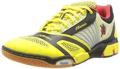 Kempa Hurricane 200846901, Unisex-Erwachsene Handballschuhe, Gelb (gelb/schwarz/rot), EU 39.5 (UK 4)