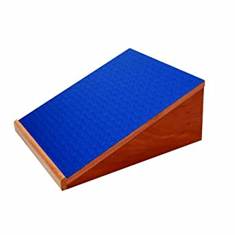 """3B Scientific Eucalyptus Wood Slant Board for Controlled Stretching, 15"""" Length x 14"""" Width x 6-1/2"""" Height"""