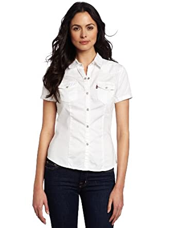 Levi 39 s women 39 s short sleeve snap front western shirt for Levi s short sleeve shirt
