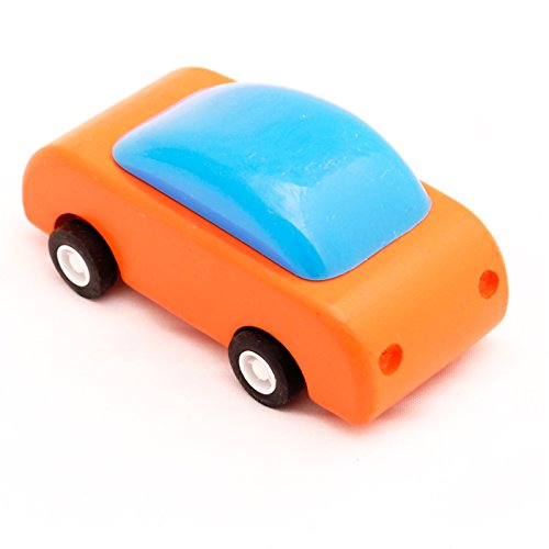 Pull-Back Wooden Racing Car,Orange,T00074